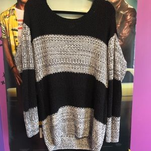 Oversized Knit Tunic Sweater